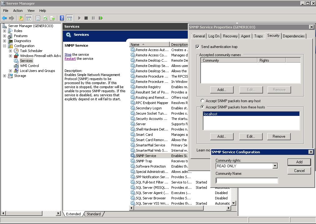 Windows Come Installare Snmp E Configurare La Community